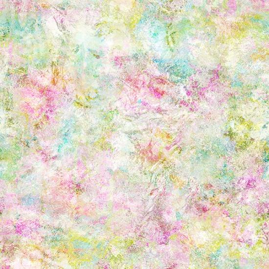 Hoffman Busy Blooms Watery Texture - Multi Pastel