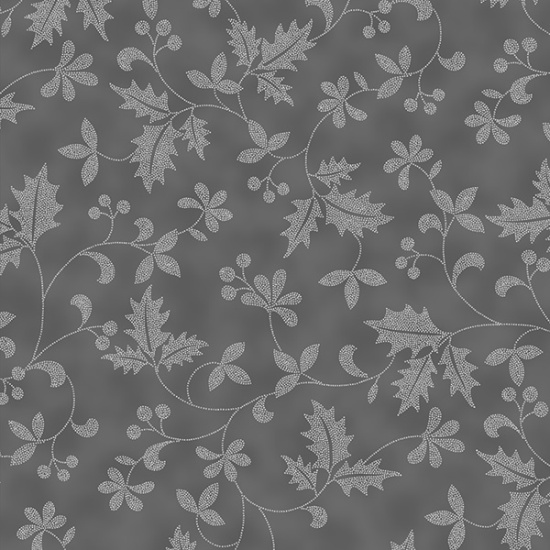 Hoffman Cardinal Carols H8821 483S Fog//Silver Cardinals Cotton Fabric