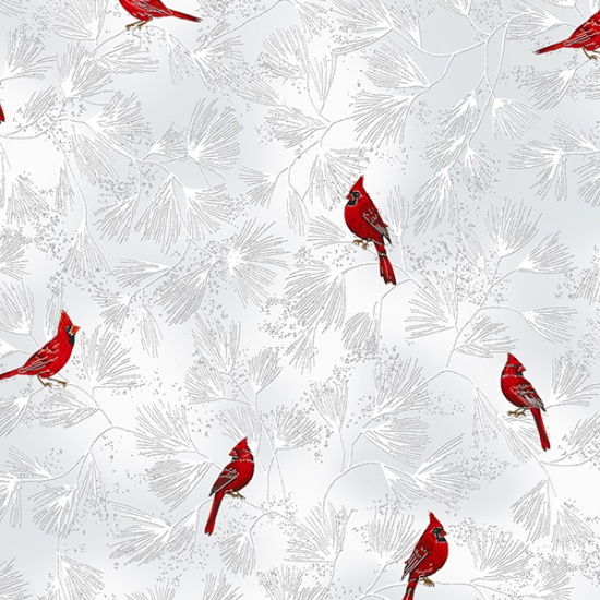 A Winter's Sky - Small Cardinals - Frost/Silver