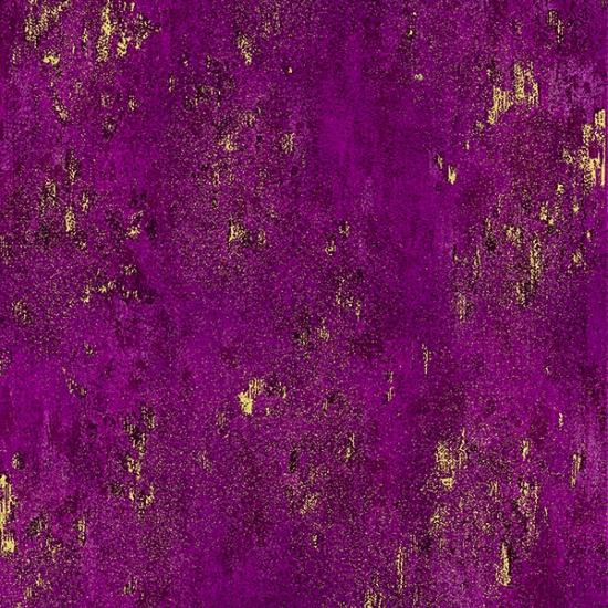 Hoffman Fabrics - Luxe -  Magenta/Gold