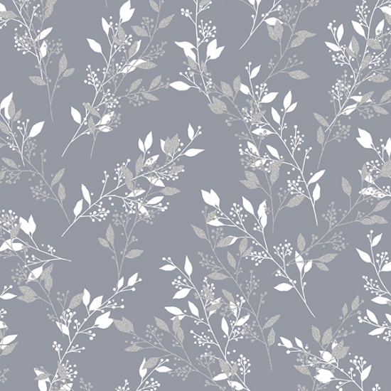 Pewter-Silver Sparkle+Fade - Leaves