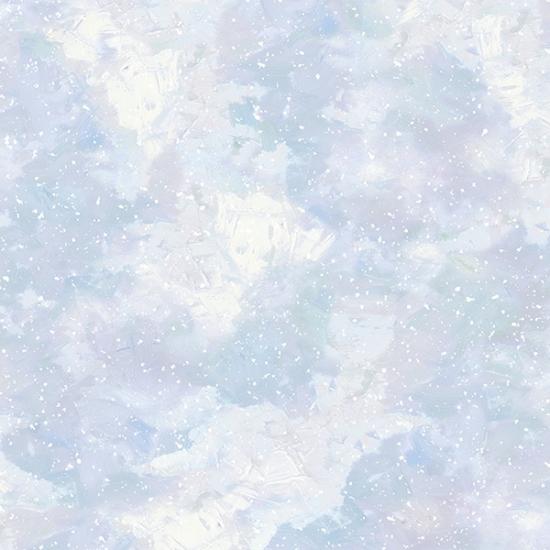 S4709-132 Opal - Snowy Paint Texture | Winter Wonder |  Hoffman Spectrum Digital Print
