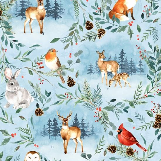 Woodland Winter digital fabric