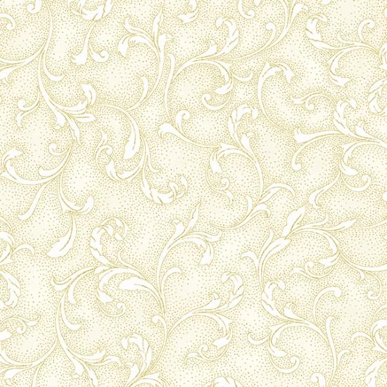 HOFF- Holiday Decadence Cream/Gold Swirls