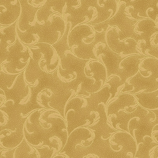 HOFF- Holiday Decadence Gold On Gold Swirls