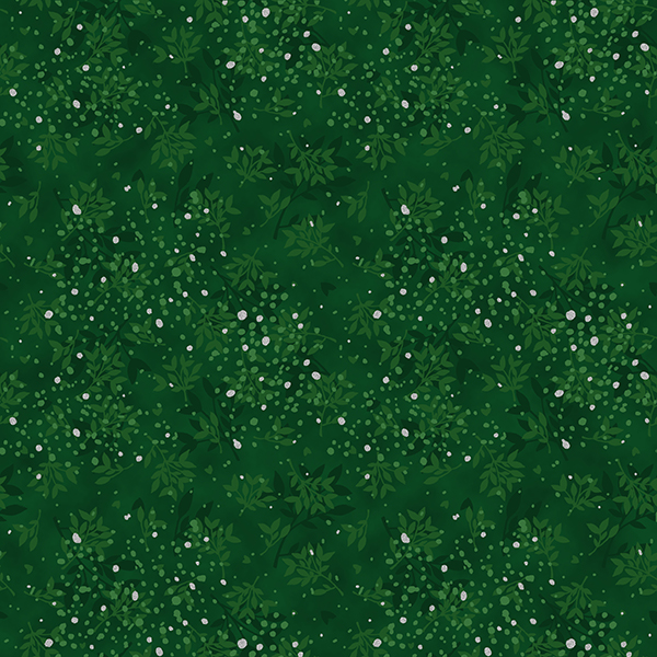 S7708-189S-Christmas-Green-Silver Frosted Flight