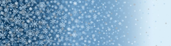 S7717-7S-Blue-Silver Snowflake Ombre | First Snowfall by Hoffman Fabrics