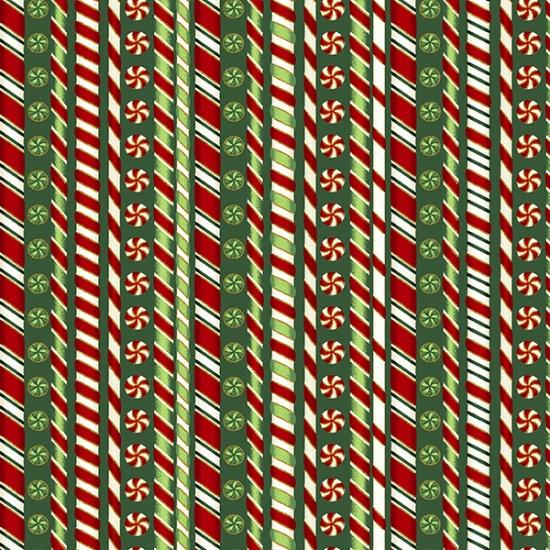 Hoffman Fabrics Santa's Sweets S7721-60G-Hunter-Gold