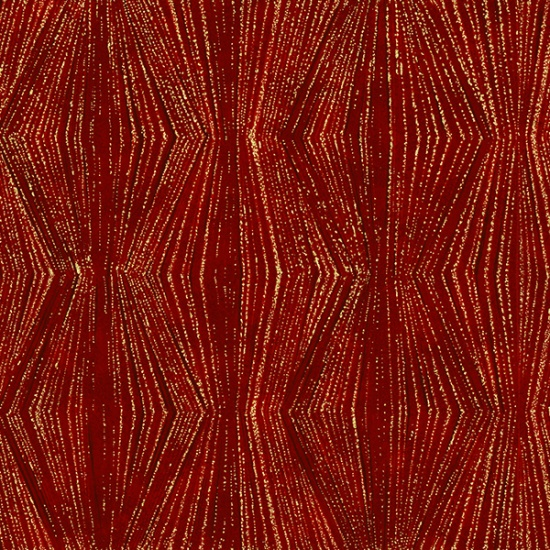 Tree Traditions - Stripe - Scarlet with Gold Metallic