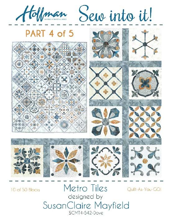 Hoffman Metro Tiles Dove Precut Kit SCMT 4