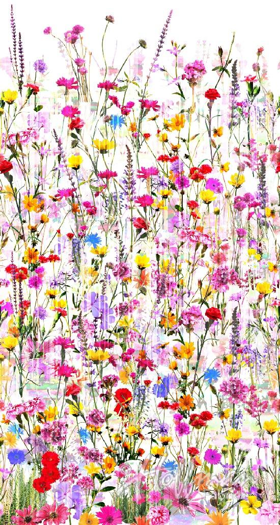 Spring Floral Digital 104 Backing