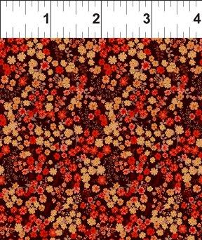 Garden Delights III Petite Posies Red 10GSG 1 - 1 yd