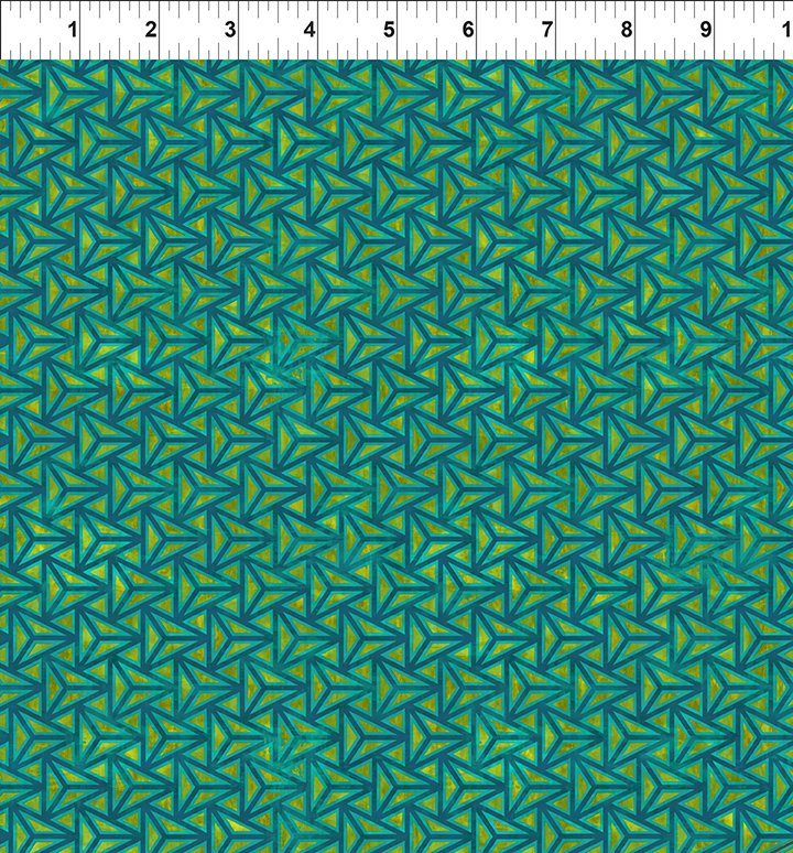 COSMOS - green/yellow/blue geometric design