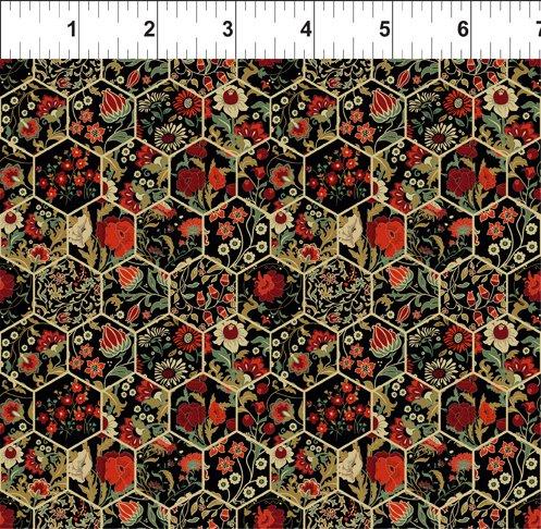 Garden Delights III 11GSG 1 Hexagons Red
