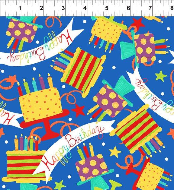 Happy Birthday Blue Banner 1JHO1
