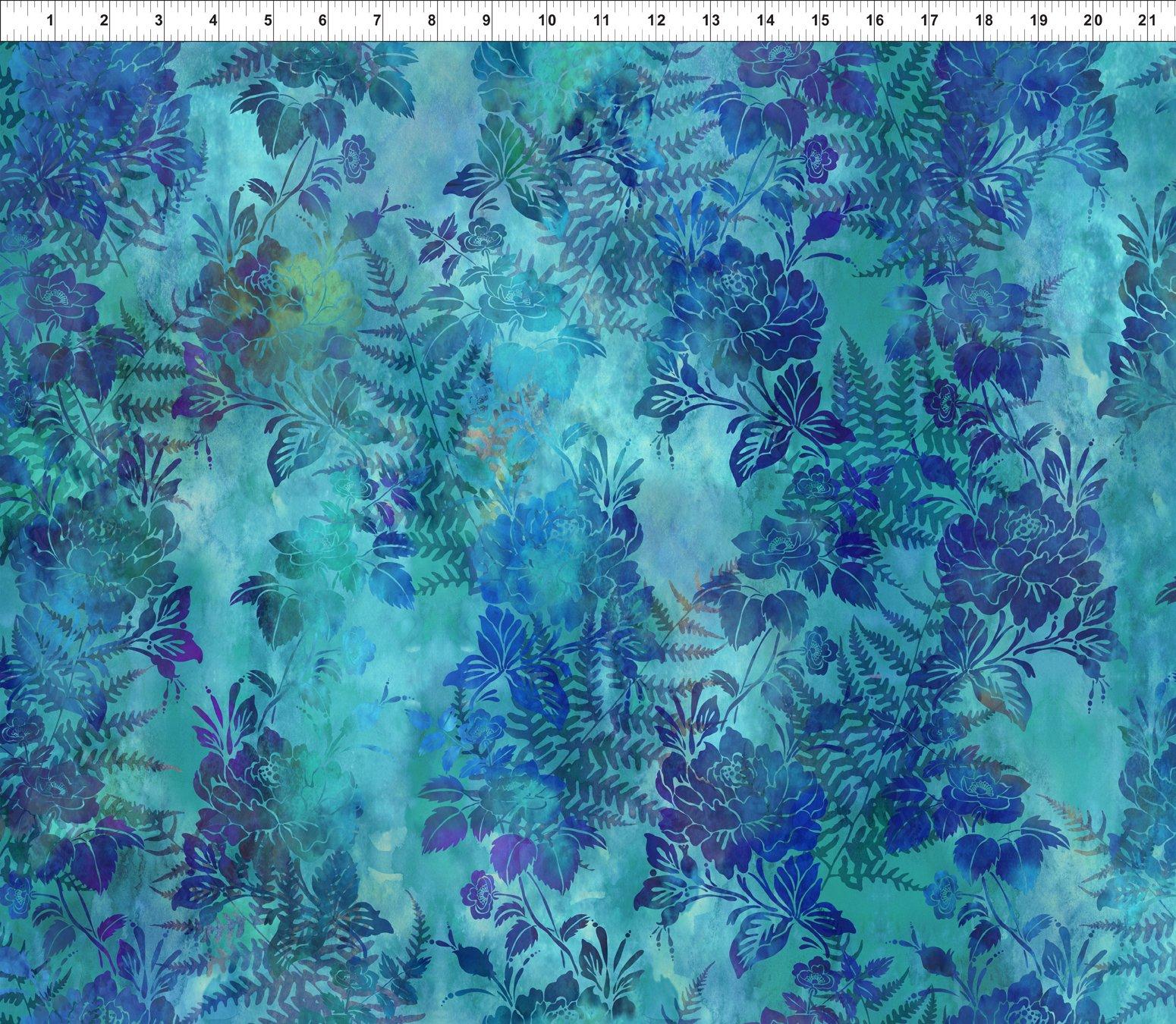 Garden of Dreams-Blooms Lush Blue 1JYL 3