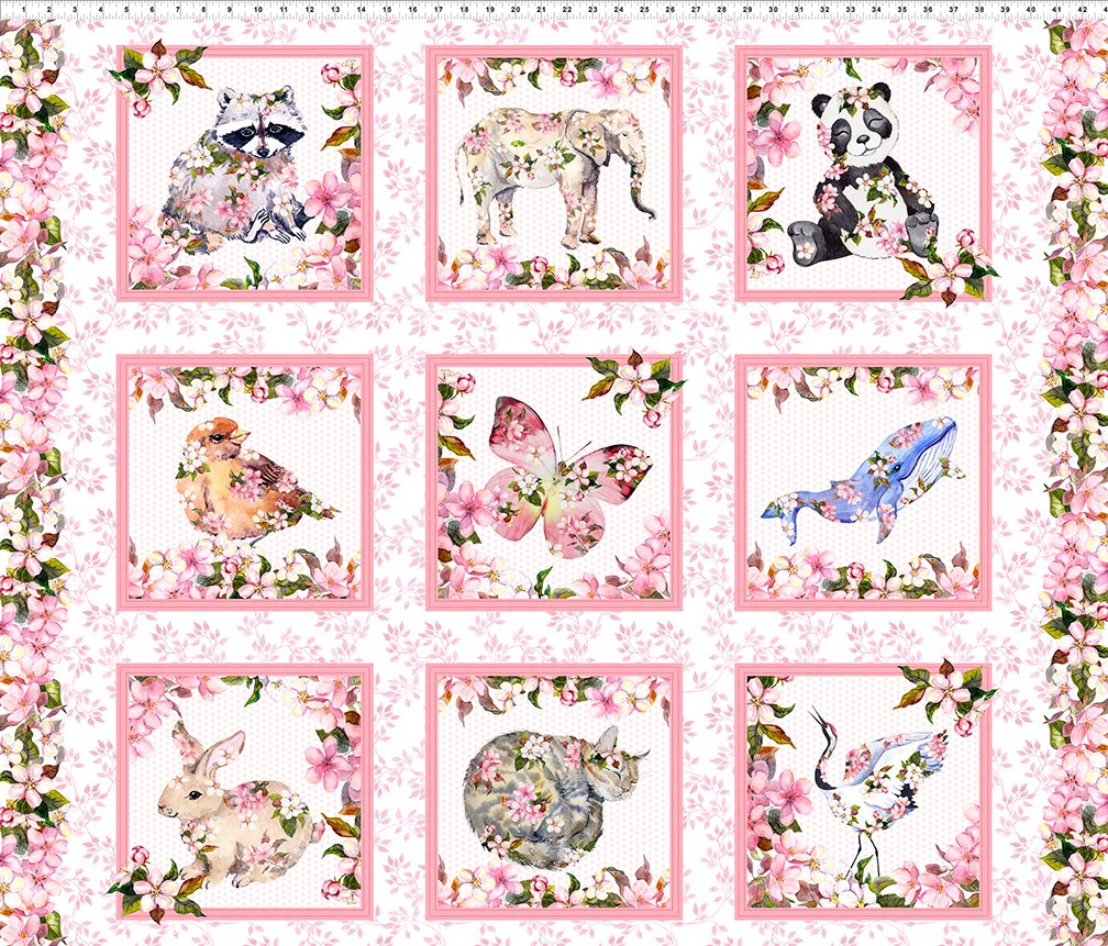 in the Beginning Pretty in Pink 1P1P-1 Animal Panel