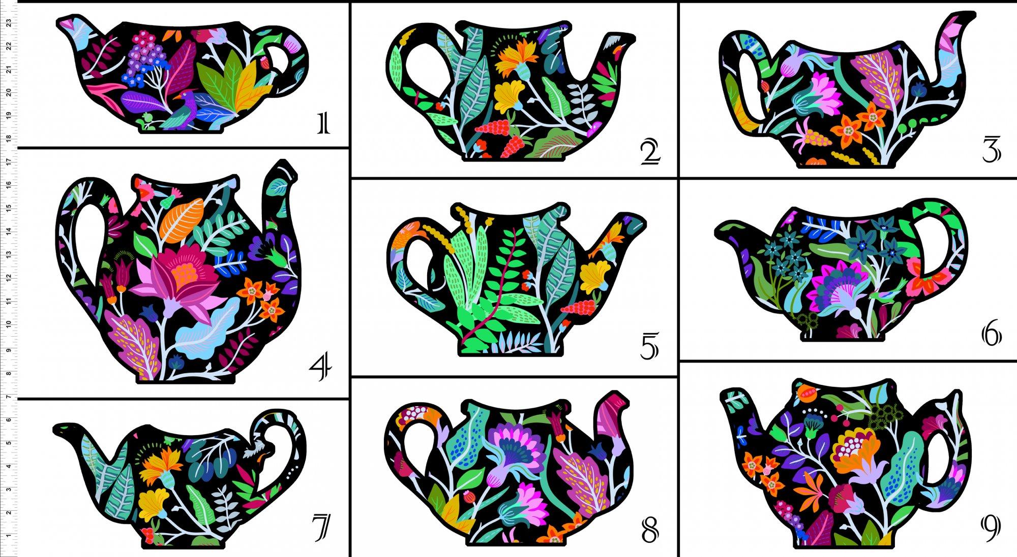 Teapot Sampler Pattern & Panel