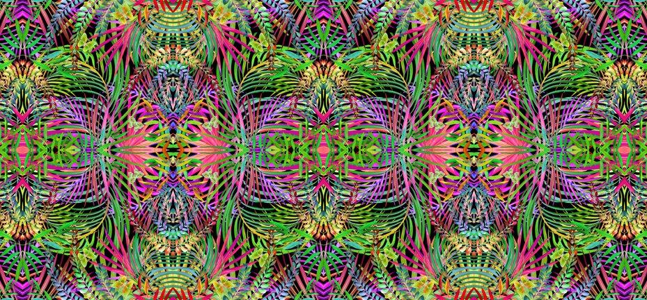 Kaleidoscope Fat Quarter - Multi Safari Collection by In the Beginning Fabrics