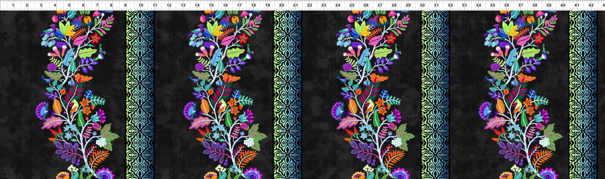 2TPS 1 Teapot Sampler - Floral Vine Border - Multi
