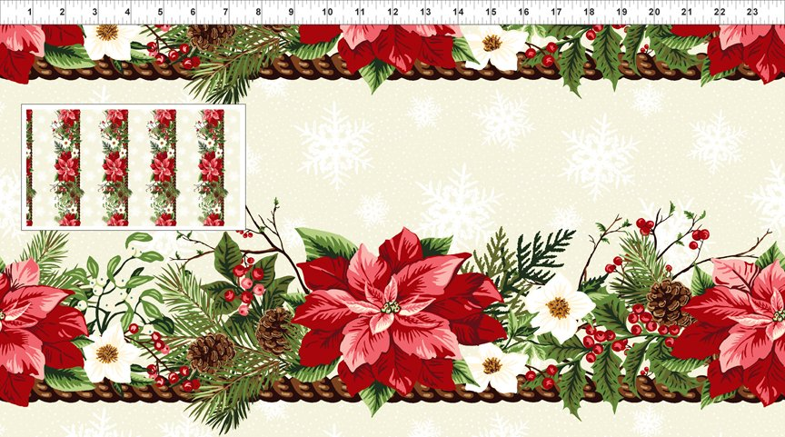 Winter Twist Border Print