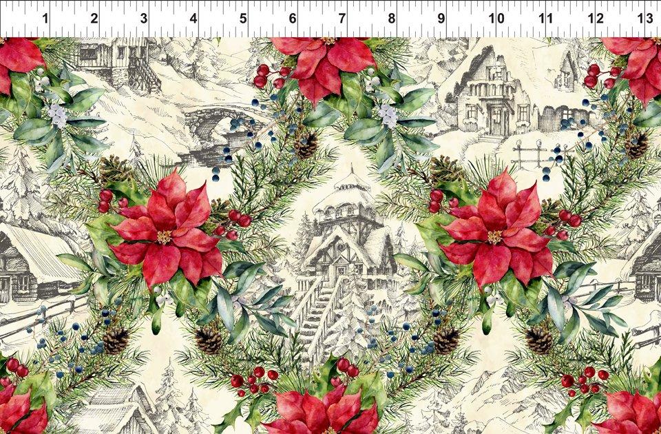 A Poinsettia Winter - Winter Scenes - Rd/Gr -3APW 1
