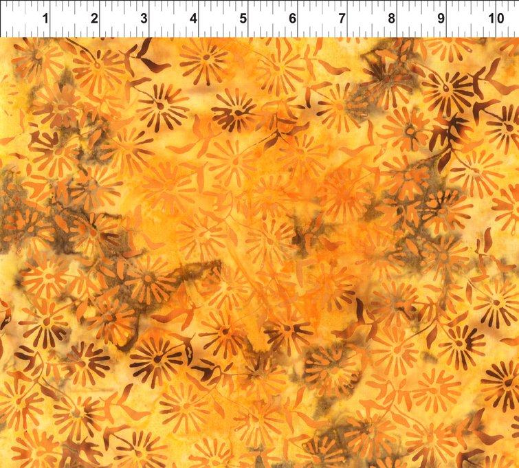 Floragraphix Batiks IV 3GBD1-Cheddar