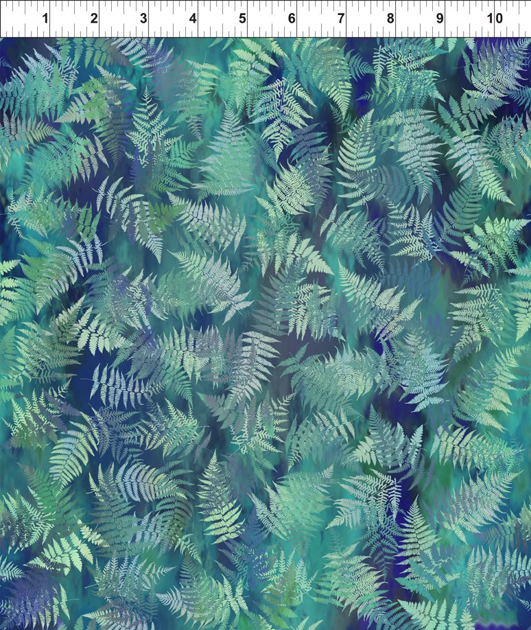 Garden of Dreams-Ferns Dusky Teal 3JYL 4