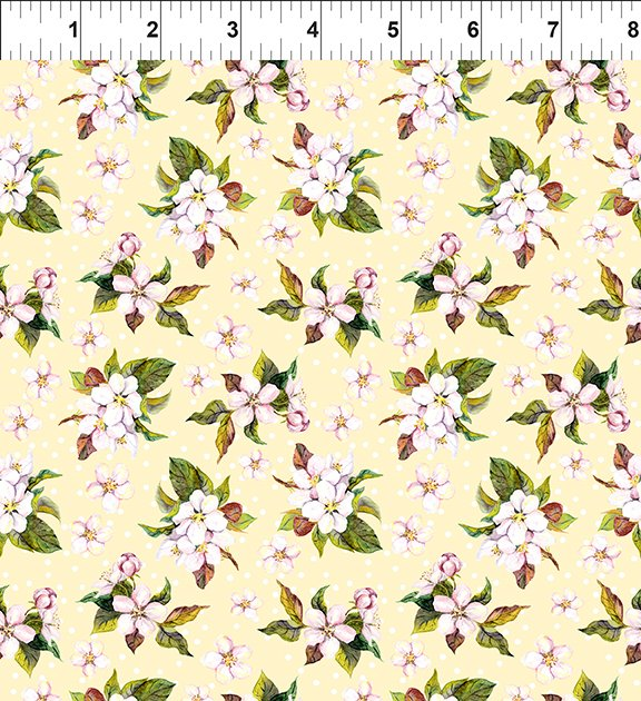 In The Beginning Pretty in Pink 4PIP-1 Small Blossoms Yellow