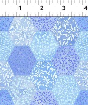 Ajisai - lt purple gradated hexagons