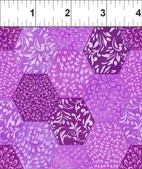 Ajisai - dk purple varigated hexigons
