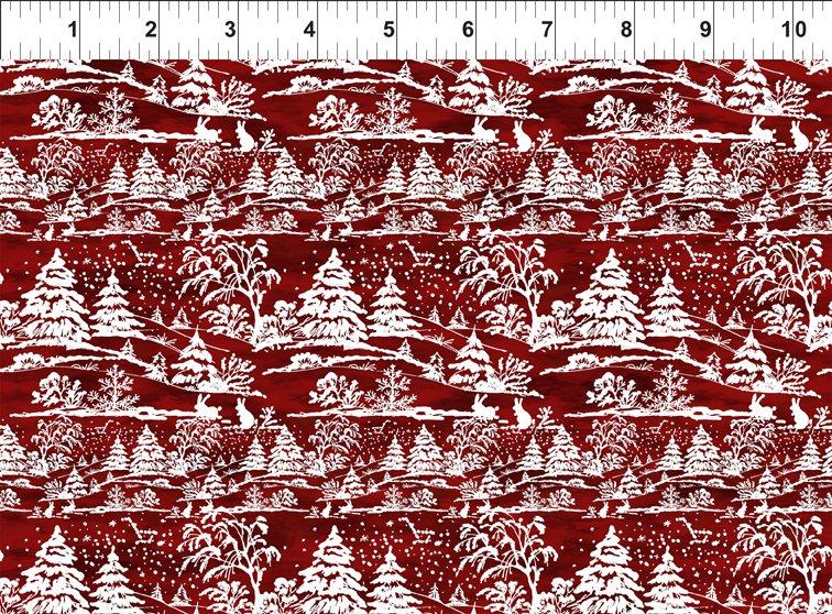 A Poinsettia Winter - Treescape - Red - 6APW 1