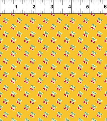 Cherry Lemonade: Rows of Cherries - Yellow