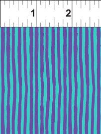 Happy Birthday Purple/Turq Wavy Lines 6JHO1