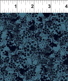 Garden Delights III 7GSG 4 Ogee Leaf Blue