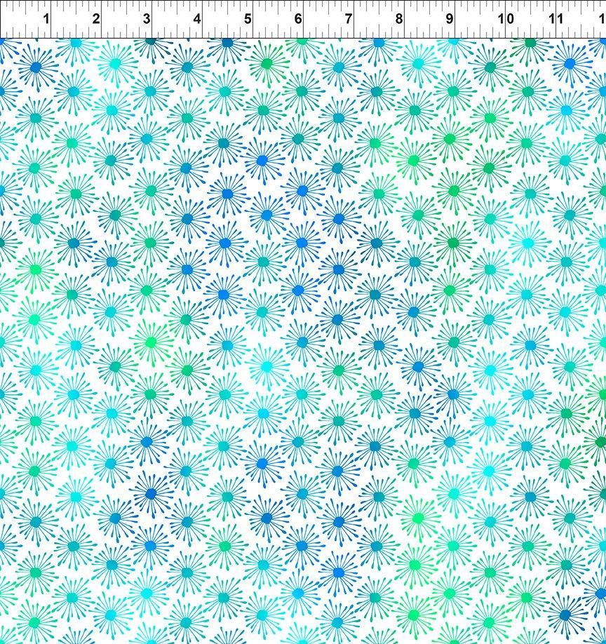 Unusual Garden II Burst Blue/White 7UGB 3