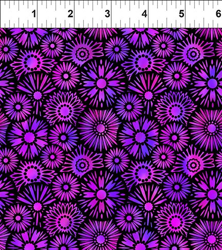 In The Beginning Unusual Garden II 8UGB 3 Purple Black Blooms