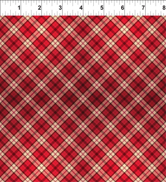 A Poinsettia Winter - Plaid - Red -9APW 1