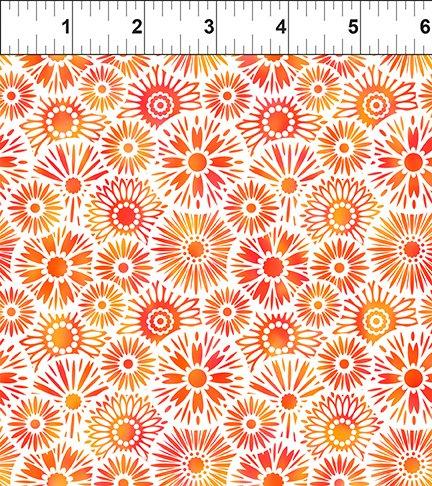 Unusual Garden II Blooms Orange/white 9UGB 1