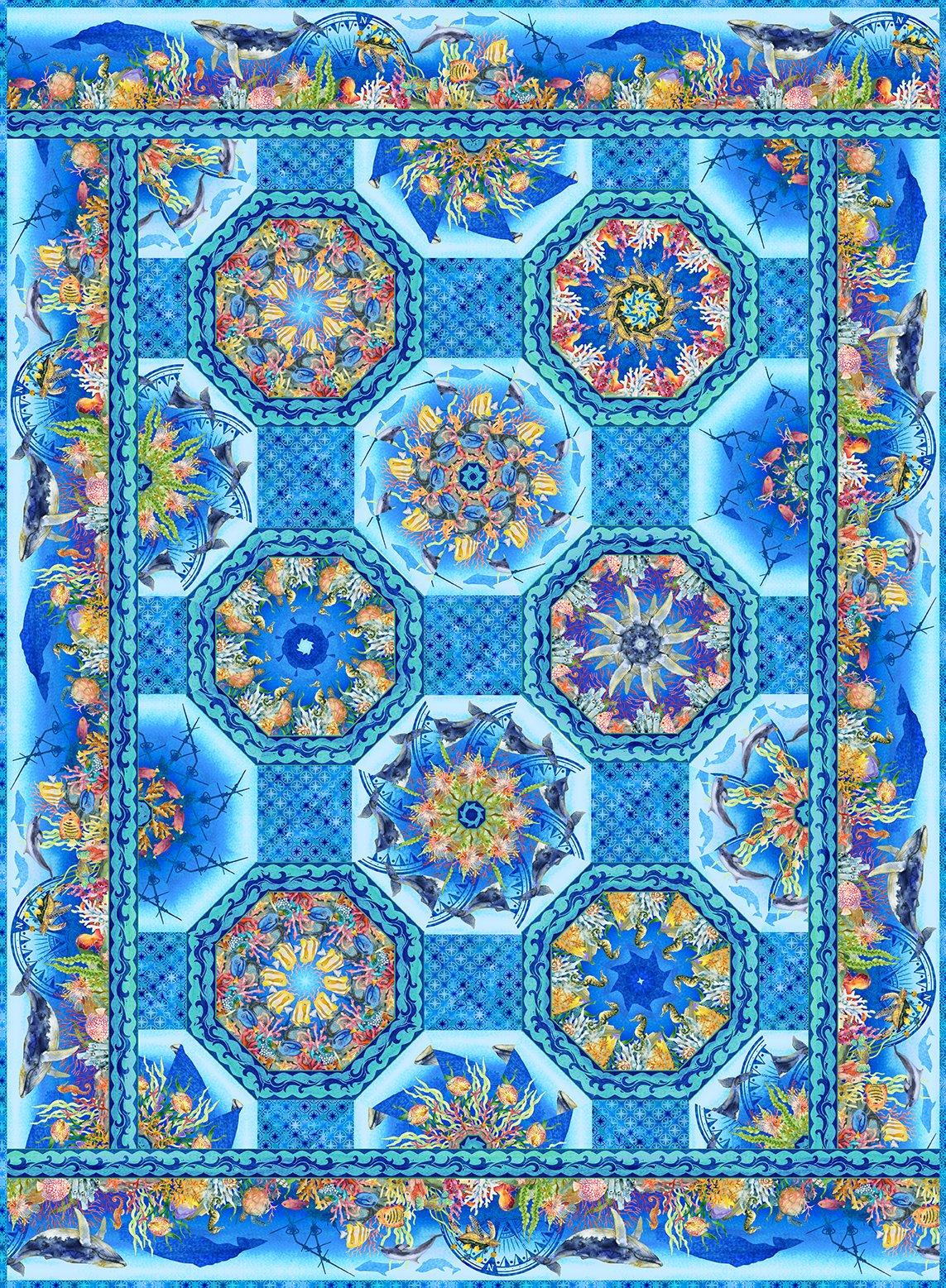 Calypso Kaleidoscope Quilt Pattern