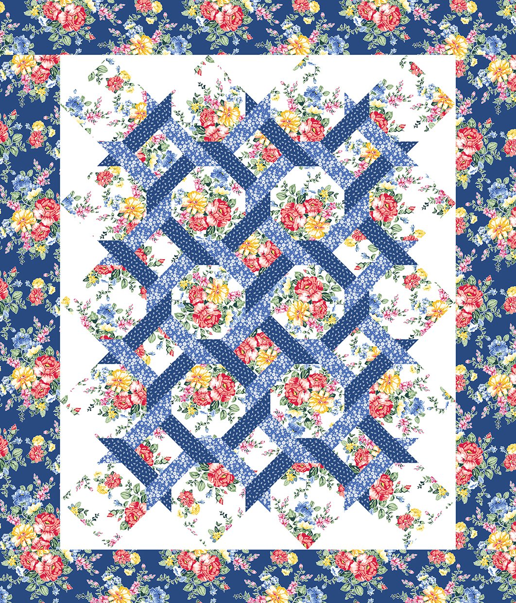 Cherry Lemonade Garden Twist Quilt Pattern