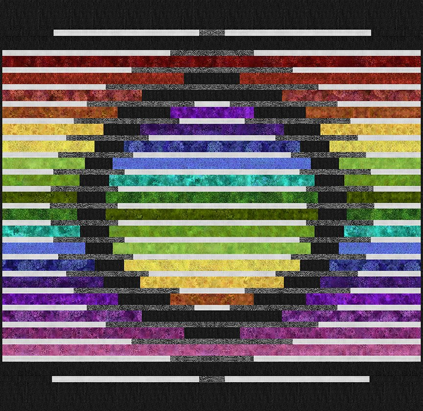 Rainbow of Jewels Mirage Quilt by Laurie Shifrin