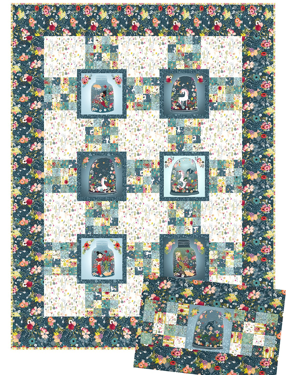 Mermaids and Unicorns Quilt and Pillowcase Pattern