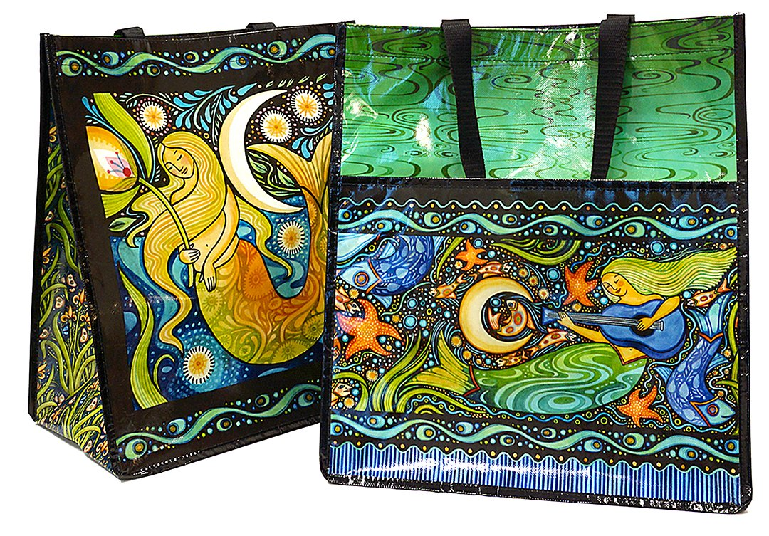 Oceanica Shopping Tote by Julie Paschkis