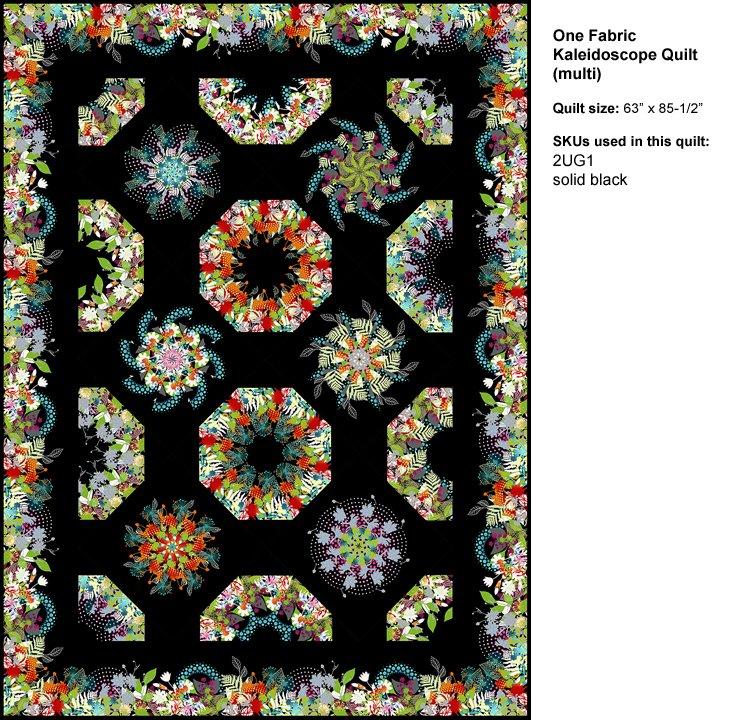 One Fabric Kaleidoscope Pattern