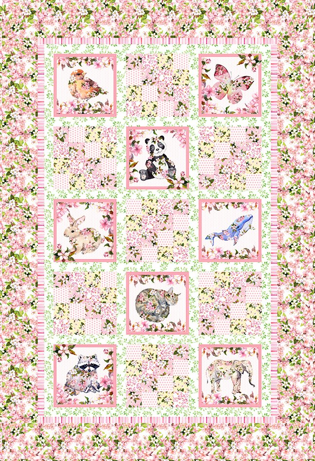 KIT -- PRETTY IN PINK QUILT