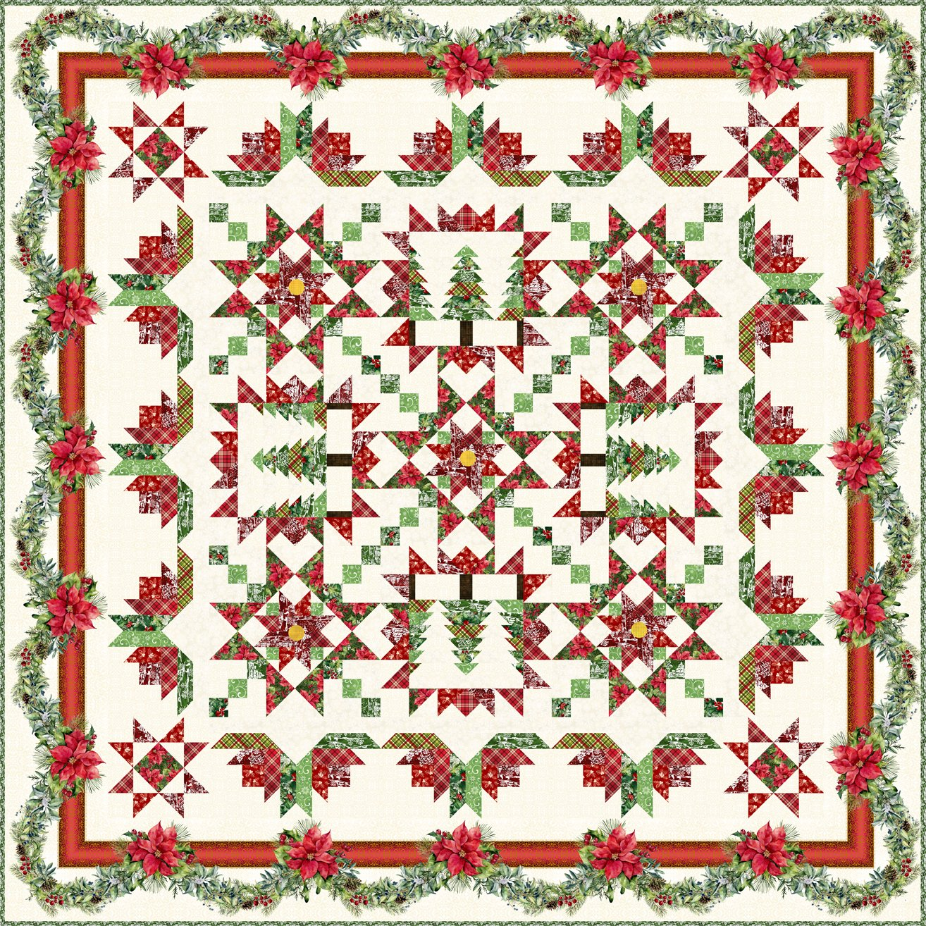 A Poinsettia Winter Quilt Book