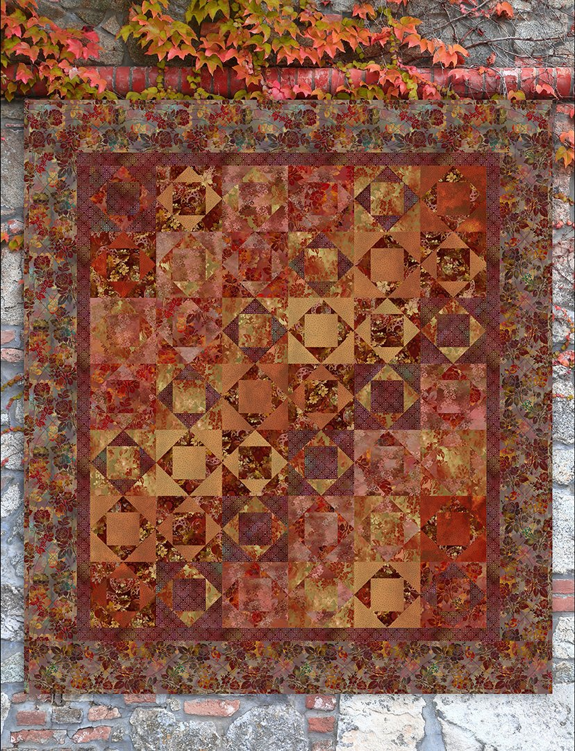 autumn abstract quilt