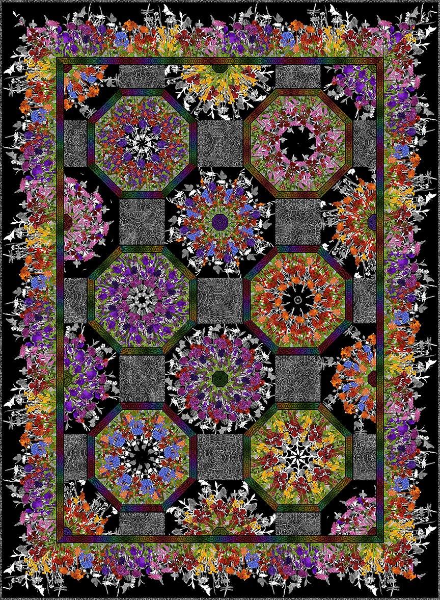 Rainbow of Jewels Kaleidoscope Pattern