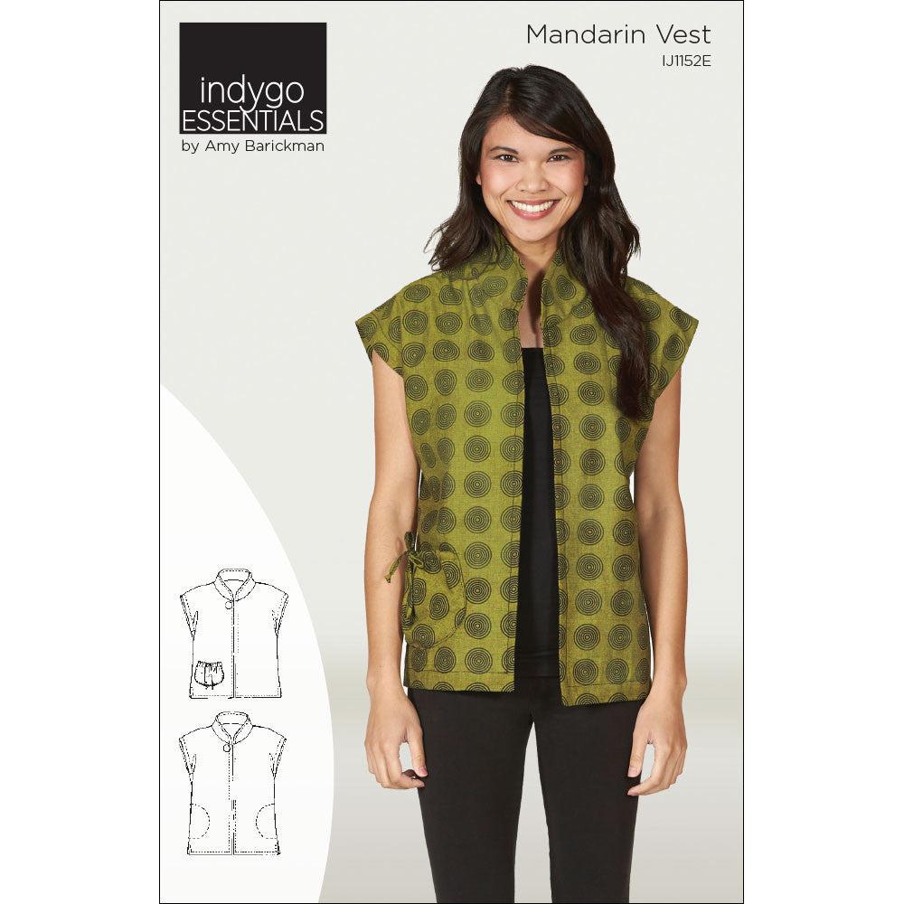 Indygo Essentials - Mandarin Vest Pattern